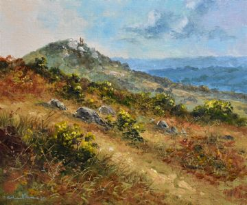 Richard Blowey Original Oil Painting Madron Carn Landscape Penzance Cornwall